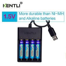 4pcs KENTLI 1.5V AA 3000mWh rechargeable li-polymer batteries with charger set