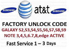 AT&T ATT UNLOCK SERVICE FOR SAMSUNG GALAXY S10 S9 S8 S7 S6 S5 NOTEs ACTIVE