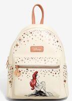 Loungefly Disney The Little Mermaid  Mini Backpack Ariel Sitting On Rock. NWT!!