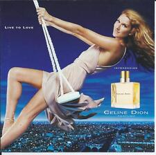 CELINE DION - Live to love  Parfums PROMO CD 6TR US 2003 RARE!!