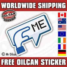 POKE ME car sticker facebook style 150x95mm