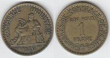 Gertbrolen 1 Franc Chambre de Commerce en Cupro-Aluminium 1920