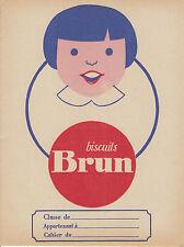 Objet de collection protège cahier biscuits Brun