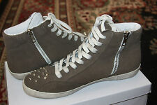 steve madden TWYNKLE TAUPE SUEDE SNEAKER SIZE 8M