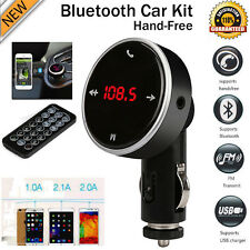 Wireless LCD MP3 Player Bluetooth Car Kit SD MMC USB FM Transmitter Modulator UK