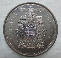2015 CANADA 50¢ HALF DOLLAR COIN BRILLIANT UNCIRCULATED