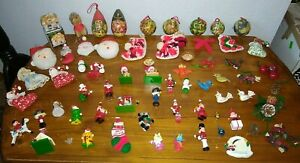 LOT  Vintage  CHRISTMAS ORNAMENTS  mostly never used