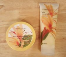 Lot Of 2 Bath & Body Works Wild Honeysuckle Body Cream & Body Butter r
