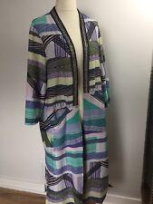 River Island Kimono Jacket  Size UK 18 River Island Cover Up Aztec Beaded Print