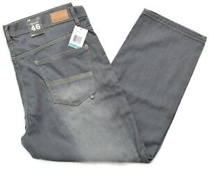 Akademiks Mens Gray Relaxed Straight Fit Denim Jeans Big & Tall 46 x 32