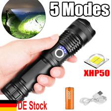Super hell 990000lm Taschenlampe LED XHP50 USB Taktisches Fackel 26650 Batterie