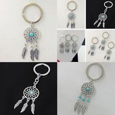 Tassels Alloy Feather Jewery Key Chain Ring Dream Catcher  Pendant