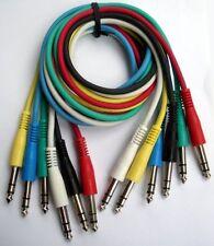 Cables de interconexión equilibrada nuevo 6 cables de parche estudio TRS 90cm largo