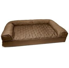 Dog Bed Large Washable Cover Fancy Therapeutic Removable Sofa Day Quilted Brown