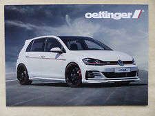 Oettinger Umbau Tuning VW Golf GTI 2.0 TSI 300 PS - Prospekt Brochure 2017