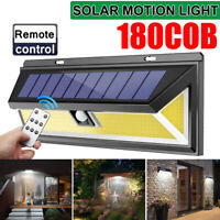 180COB LED 1200LM Remote control Solar Wall Lamp Outdoor Light Motion
