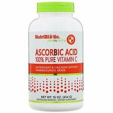 NutriBiotic Ascorbic Acid Crystalline Powder 16 oz 454 g Egg-Free, Gluten-Free,