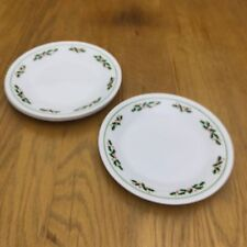 4 Corelle Winter Holly Bread Plates Holiday