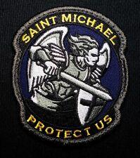 MODERN SAINT ST. MICHAEL PROTECT USA MORALE COLOR HOOK PATCH