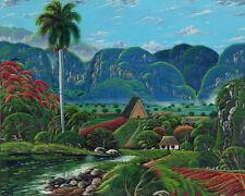 """CUBAN ART #059 ** DOUGLAS ** CONECCION NATURAL II 40X32"""" SIGNED ON CANVAS"""