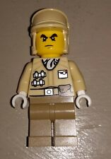 LEGO YELLOW TAN ARMY WARRIOR SOLIDER WITH HAT MAN MALE MINIFIGURE MINIFIG