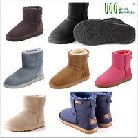 UGG Boots100% Australian Twinface Sheepskin Premium classical  Mini 1/2  Unisex