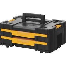 """(4)-Dewalt Plastic 2 Drawer 17-1/4"""" Long 7"""" Wide TSTAK Case Toolbox DWST17804"""