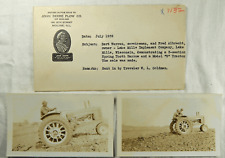 1939 John Deere Real Photos B Tractor Harrow Warren Albrecht Lake Mills Wi