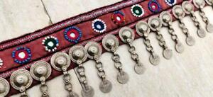 Vintage Ethnic Kuchi Tribal Banjara Afghan Metal Chain Rare Tassel Belt/ Trim