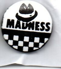MADNESS  - BUTTON BADGE - UK SKA / 2-TONE UK BAND - SUGGS - ONE STEP BEYOND 25mm