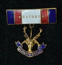 Vintage Seaforth Highlanders enamel lapel pin badge sweetheart brooch