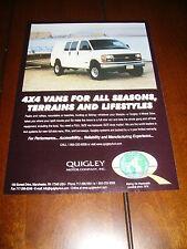 1998 QUIGLEY 4X4 VAN 4 WHEEL DRIVE ***ORIGINAL AD***