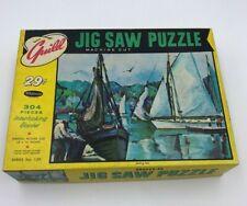 Vtg Guild Jiw Saw Puzzle Setting Sail In Original Box Series No. 129