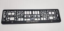 2 x ECHTE 3D Kennzeichenhalter  Nummernschildhalter Renault