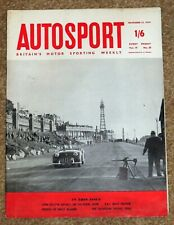 Autosport 13/11/59 - RAC RALLY PREVIEW - TURIN MOTOR SHOW - TV TROPHY TRIAL