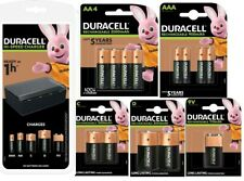 Duracell Universal Charger CEF22 + AA + AAA + C + D + 9V Rechargeable Batteries