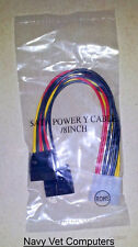 Power Y splitter cable 4 Pin Male Molex Two Female Sata