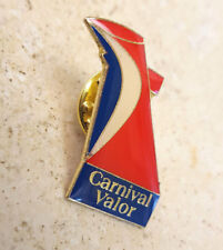 CARNIVAL CRUISE LINES SHIP 'VALOR' GUEST VIP LAPEL PIN-Vacation-Red Blue