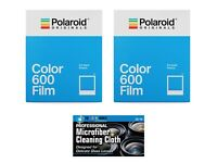 2 Pack Polaroid Originals 4670 Color Instant Film for 600 type Cameras + Cloth