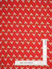 Valentines Day Kewpie Love Hearts Roses Red Cotton Fabric Riley Blake By Yard