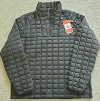 The North Face Mens Thermoball Insulated Zip Pullover Puffer XL Jacket Black