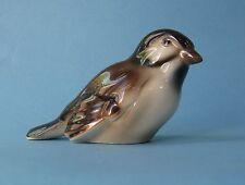 WIEN KERAMOS ART NOUVEAU Young BROWN TITMOUSE Antique Ceramic BIRD FIGURINE 1920
