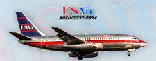 """USAir Airlines Boeing 737-2B7A Handmade 2""""x5"""" Collectible Photo Magnet (PMT1663)"""