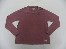 Roxy Woman Wild Heart B Wine Red L/S Sweatshirt Top Sz Medium