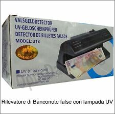 RILEVATORE DI SOLDI EURO MONEY BANCONOTE FALSE A LUCE UV ULTRAVIOLETTA 4W