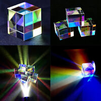 1Pc Optical Glass X-cube Dichroic Cube Prism RGB Combiner Splitter Science ToyES