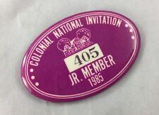 Orig Colonial Invitation Fort Worth Golf Tournament Badge Pin Jr Member 1985