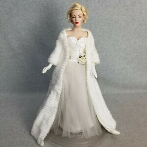 "19"" Marilyn Monroe All About Eve Franklin Mint Heirloom Porcelain Doll"
