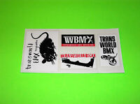 TRANSWORLD BMX MAGAZINE MOUNTAIN BIKE BICYCLE MOTOCROSS STICKERS DECALS