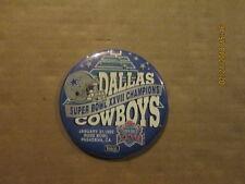 NFL Dallas Cowboys Vintage Super Bowl XXVII Chamnpions Football Pinback Button